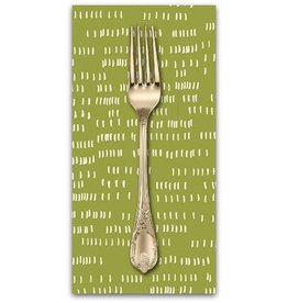 PD's Sarah Golden Collection Home, Dash in Moss, Dinner Napkin