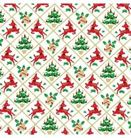 Michael Miller Hello My Deer, Fawn Frolic in White, Fabric Half-Yards CM8068