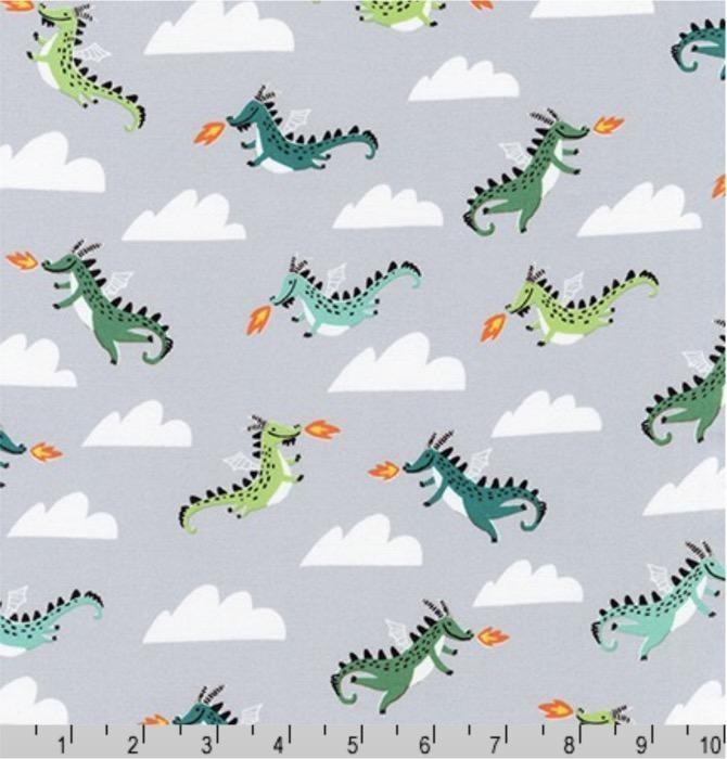PD's Hello!Lucky Collection Hello Lucky, Dragons in Grey, Dinner Napkin
