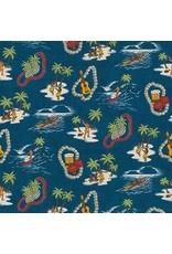 Robert Kaufman Sevenberry, Island Paradise in Ocean, Fabric Half-Yards SB-4143D1-4