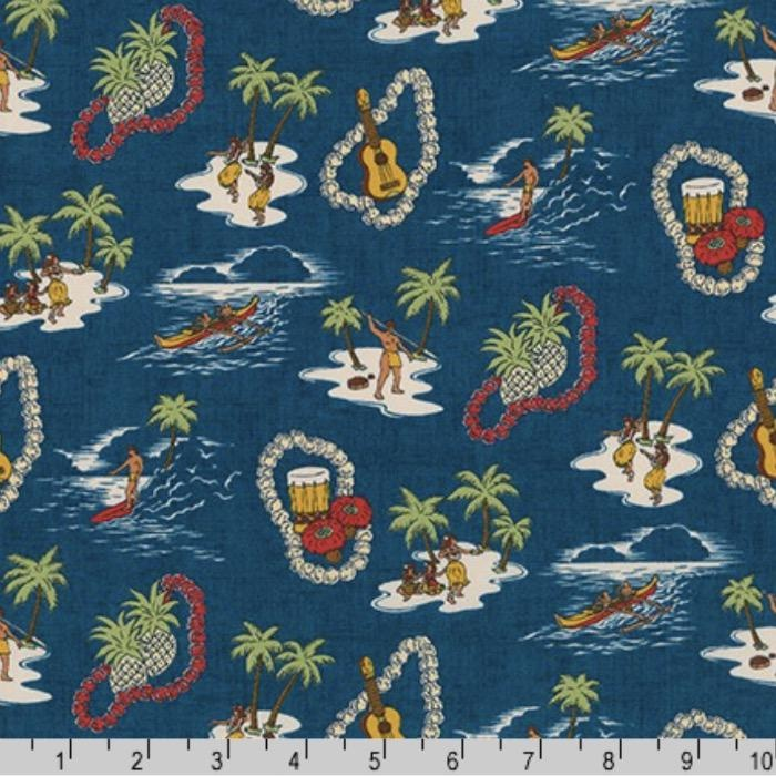 PD's Robert Kaufman Collection Sevenberry, Island Paradise in Ocean, Dinner Napkin