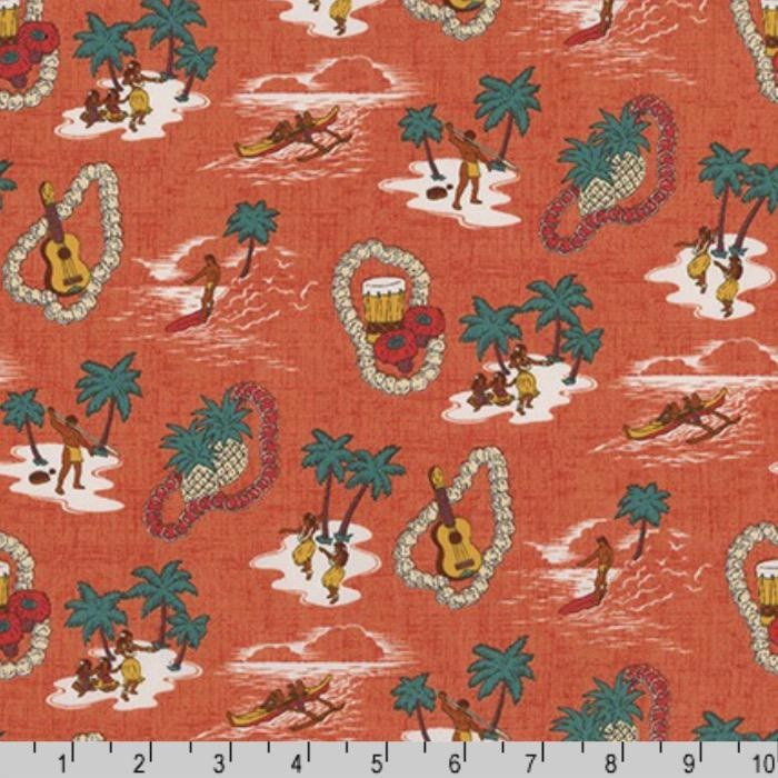 Sevenberry Island Paradise Life in Pimento, Fabric Half-Yards SB-4143D1-3