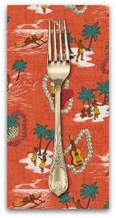 PD's Robert Kaufman Collection Sevenberry, Island Paradise in Pimento, Dinner Napkin