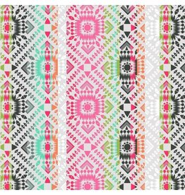 Maude Asbury Desert Blooms, Painted Totem in Grey, Fabric Half-Yards 101.148.03.2
