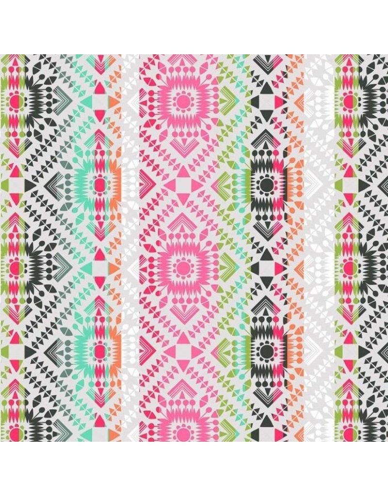 Maude Asbury Desert Blooms, Painted Totem in Grey, Fabric Half-Yards 101.148.03.2