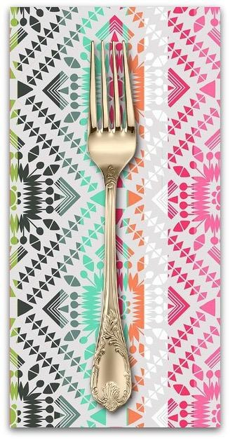 PD's Blend Fabrics Collection Desert Blooms, Painted Totem in Grey, Dinner Napkin