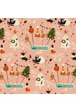 Christmas Collection Waku Waku Christmas, Holiday Party in Pink, Dinner Napkin
