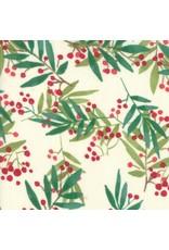 Moda Splendid, Christmas Holly in Cream, Fabric Half-Yards 48652 11