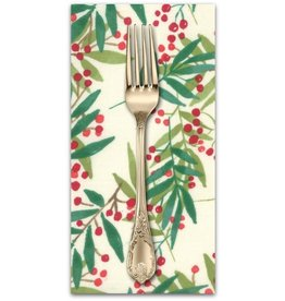 Christmas Collection Splendid, Christmas Holly in Cream, Dinner Napkin