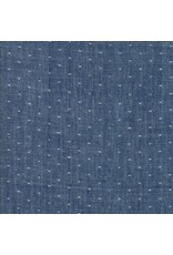 Moda Bonnie & Camille Wovens, Dot in Navy, Fabric Half-Yards 12405 34