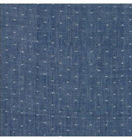 Moda Bonnie & Camille Wovens, Dot in Navy, Fabric Half-Yards 12405 34