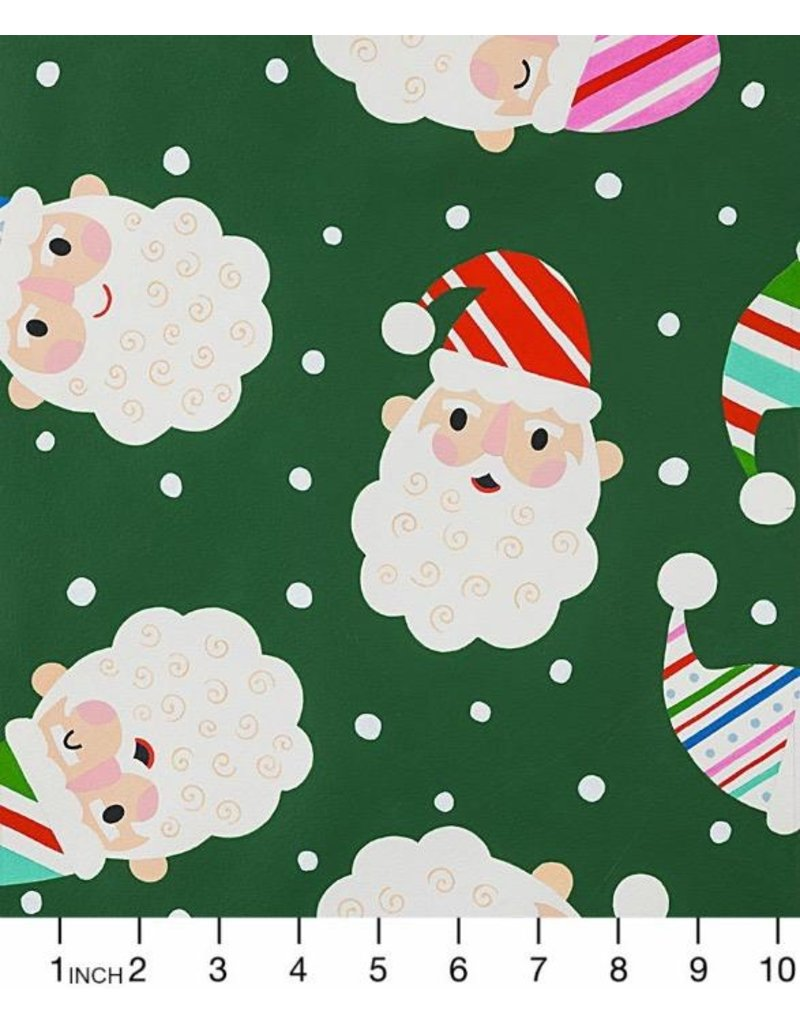 """Alexander Henry Fabrics ON SALE-Christmas Time, Candy Cane Kringle in Green, ONE 15"""" cut remaining"""