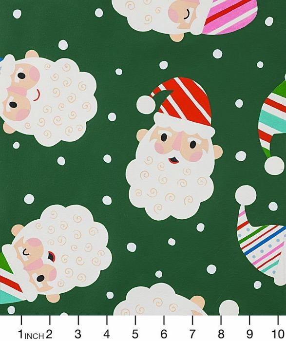 Christmas Collection Christmas Time, Candy Cane Kringle in Green, Dinner Napkin