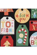Alexander Henry Fabrics ON SALE-Christmas Time, Just for You in Black, Fabric Half-Yards 8632AR