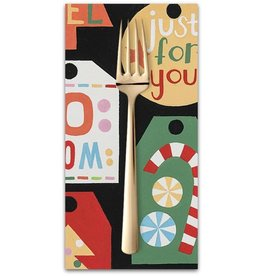 Christmas Collection Christmas Time, Just for You in Black, Dinner Napkin