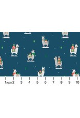 Dear Stella Fa La La Llama, Llama Gifts in Orion, Fabric Half-Yards STELLA-1228