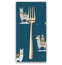 Christmas Collection Fa La La Llama, Llama Gifts in Orion, Dinner Napkin