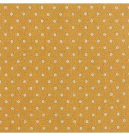 Moda Linen Mochi Dot in Golden Wheat, Fabric Half-Yards 32910 31L