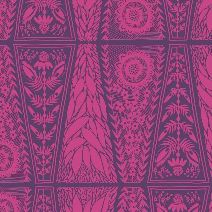 Anna Maria Horner Second Nature, Dresden Lace in Fuchsia, Fabric Half-Yards PWAM008