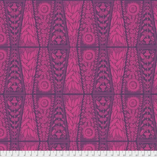 PD's Anna Maria Horner Collection Second Nature, Dresden Lace in Fuchsia, Dinner Napkin