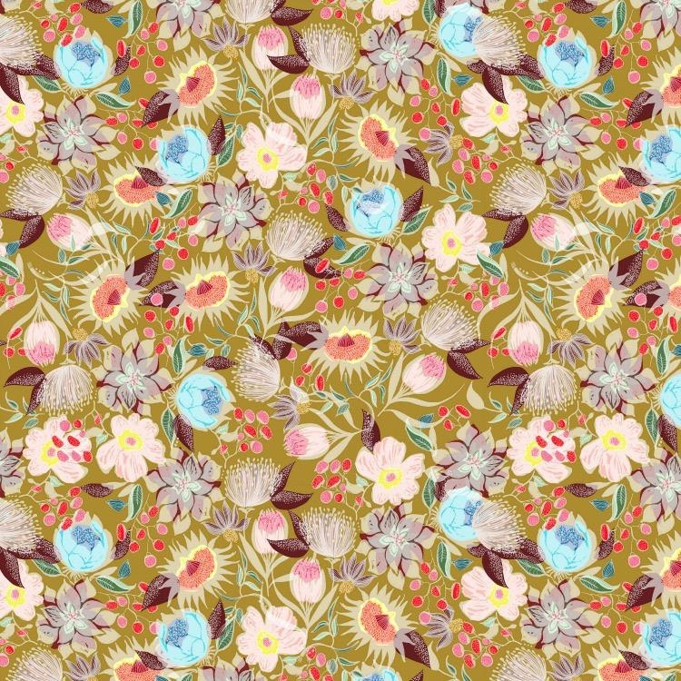 Shannon Newlin Vibrant Blooms, Meadow in Warm, Fabric Half-Yards PWSN033