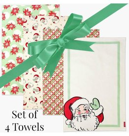 Sweet Santa Christmas Towels - Set of 4