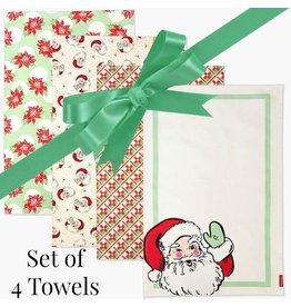 Swell Santa Christmas Towels - Set of 4