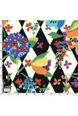 Michael Miller Table Talk, Florality in Paprika, Fabric Half-Yards DC8469