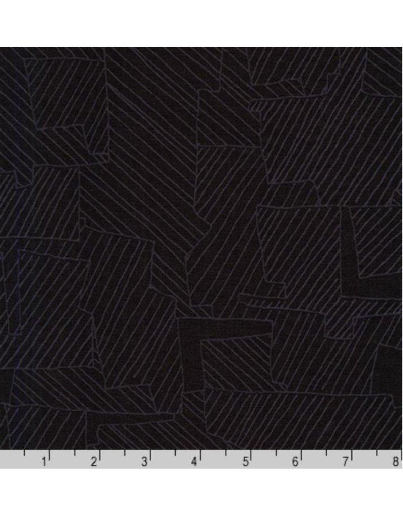 Carolyn Friedlander Instead, Intersections in Black, Fabric Half-Yards AFR-18636-2