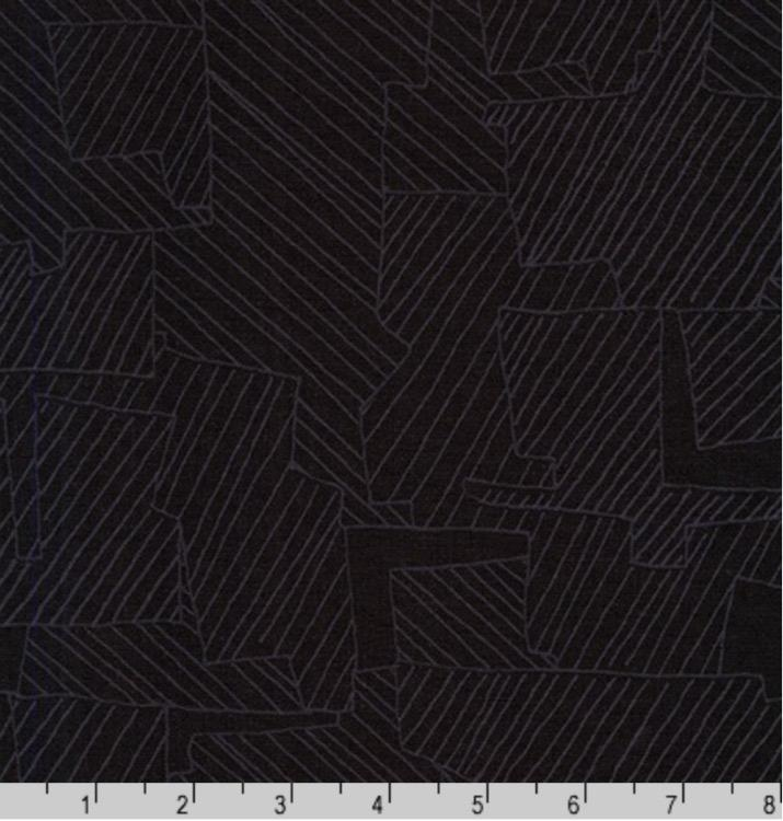 Carolyn Friedlander Instead, Intersections in Black, Fabric Half-Yards AFR-18636-2