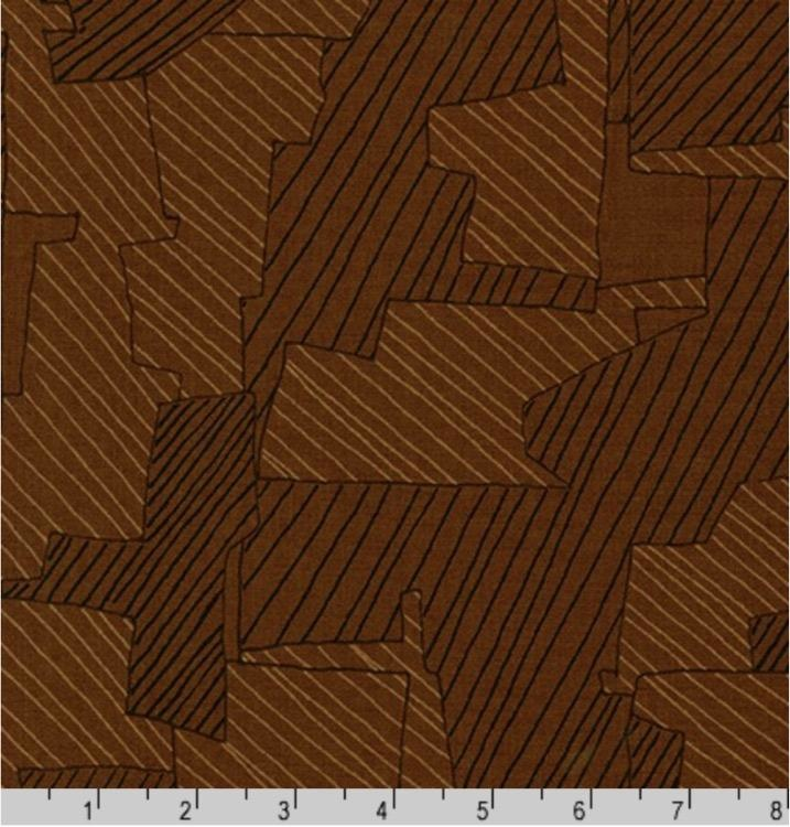 PD's Carolyn Friedlander Collection Instead, Intersections in Chestnut, Dinner Napkin