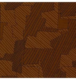 Carolyn Friedlander Instead, Intersections in Chestnut, Fabric Half-Yards AFR-18636-342