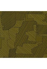 Carolyn Friedlander Instead, Intersections in Moss, Fabric Half-Yards AFR-18636-45