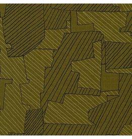 Carolyn Friedlander Instead, Intersections in Moss, Fabric Half-Yards AFR-18636-45
