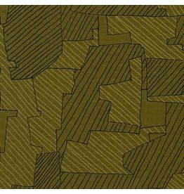 Carolyn Friedlander ON SALE-Instead, Intersections in Moss, Fabric full-Yards AFR-18636-45