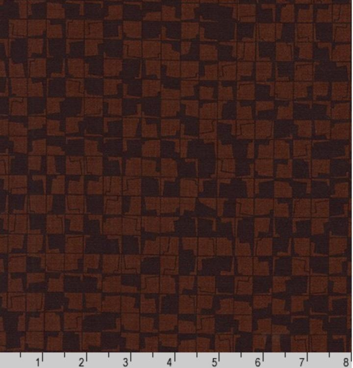 Carolyn Friedlander Instead, Tetragon in Brown, Fabric Half-Yards AFR-18637-16