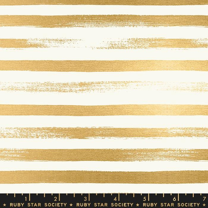 PD's Ruby Star Society Collection Ruby Star Society, Zip in Gold Metallic, Dinner Napkin