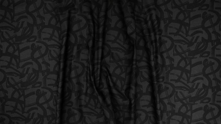 Cotton + Steel In Bloom, On the Way in Black, Fabric Half-Yards ST105-BK3
