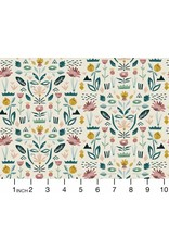 Cotton + Steel In Bloom, Floral Garden in Seafoam, Fabric Half-Yards ST104-SE2