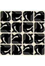 Cotton + Steel By the Seaside, Grumpy Whale in Black on Unbleached, Fabric Half-Yards LV100-BK2U