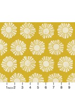 Cotton + Steel By the Seaside, Sunshine in Golden on Unbleached, Fabric Half-Yards LV101-GO1U
