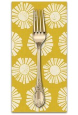 PD's Cotton + Steel Collection By the Seaside, Sunshine in Golden on Unbleached Fabric, Dinner Napkin