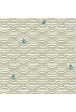 Cotton + Steel By the Seaside, Ahoy in Fog on Unbleached, Fabric Half-Yards LV104-FO3U