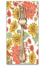 PD's Rae Ritchie Collection Hygee, Autumn Floral in White, Dinner Napkin