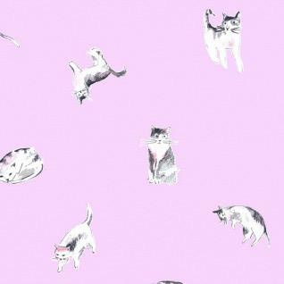 PD's Dear Stella Collection Meow Mix, Impawsible in Orchid, Dinner Napkin