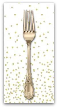 PD's Moda Collection Ombre Confetti New in Off White, Dinner Napkin