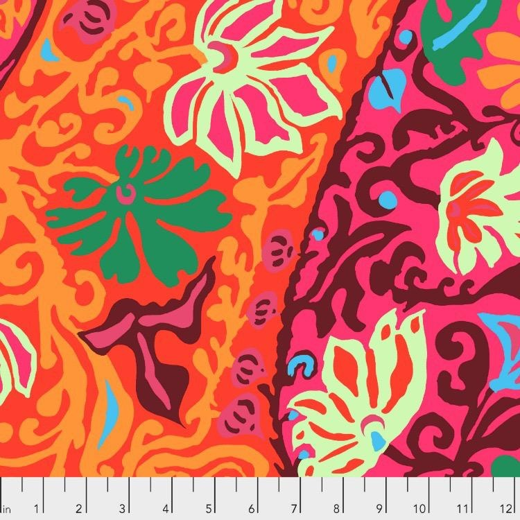 PD's Kaffe Fassett Collection Kaffe Collective 2019, Bali Brocade in Red, Dinner Napkin