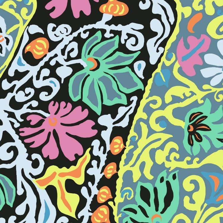 Brandon Mably Kaffe Collective 2019, Bali Brocade in Contrast, Fabric Half-Yards  PWBM069