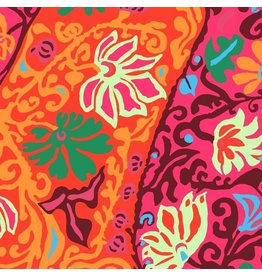 Brandon Mably Kaffe Collective, Bali Brocade in Red, Fabric Half-Yards  PWBM069