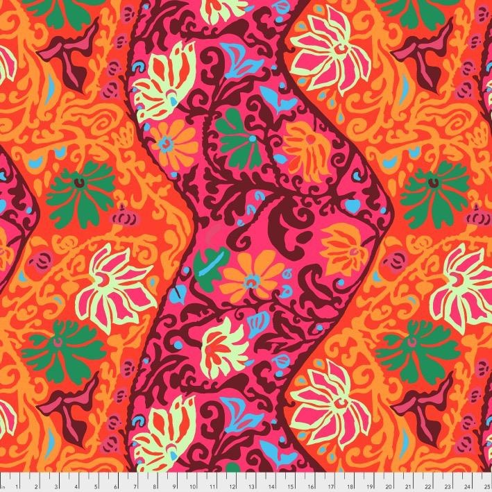 Brandon Mably Kaffe Collective 2019, Bali Brocade in Red, Fabric Half-Yards  PWBM069